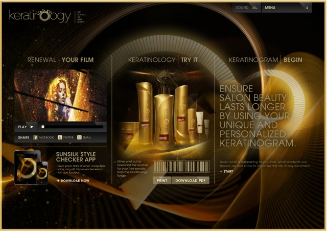 Sunsilk Keratinology site